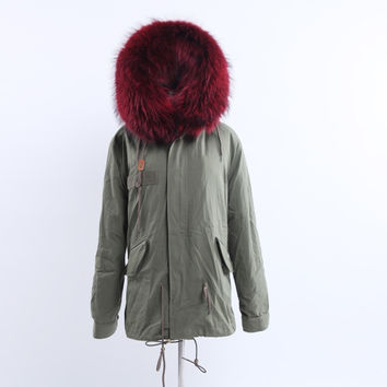 Full Fox Fur Reversible Jacket Bordeaux