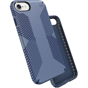 DCK4S2 Speck Products Presidio Grip Cell Phone Case for iPhone 7 - Twilight Blue/Marine Blue