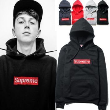 Mens Supreme Hooded Sweatshirt