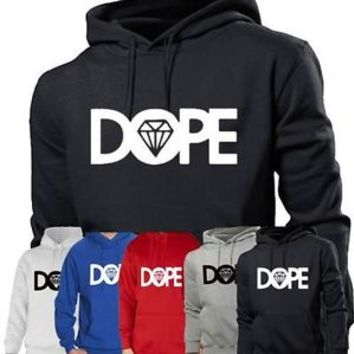 Mens Boys Unisex Dope Hoodies Hooded Sweatshirt Pullover Diamond Hoody All Sizes