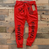 Brain Gang 4 Eva Yard Sweat Pants Red