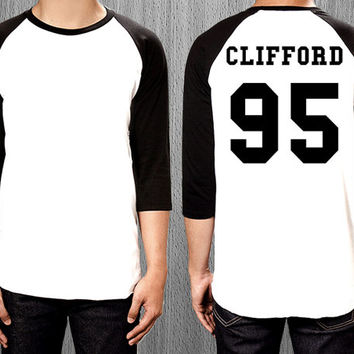 Michael Clifford 95 Shirt 5SOS 5 seconds of summer Shirt - 3/4 Long sleeve baseball tee