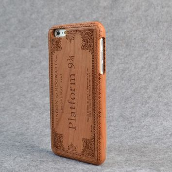 Harry Potter Hogwarts Ticket Natural Real Wood iPhone Case