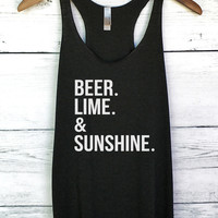Beer Lime and Sunshine Tank Top
