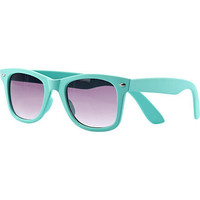 Aqua rubber retro sunglasses - retro sunglasses - sunglasses - women