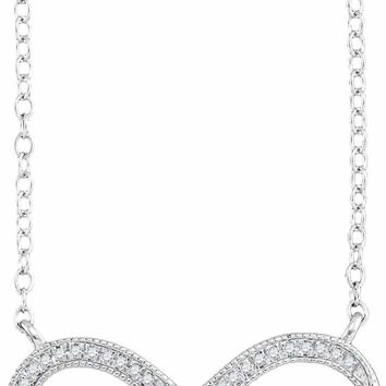 10kt White Gold Women's Round Diamond Infinity Pendant Necklace 1-10 Cttw - FREE Shipping (US/CAN)