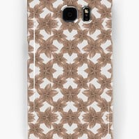 'Stylized Leaves Floral Collage' Samsung Galaxy Case/Skin by DFLC Prints