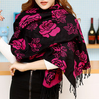 Camellia Flower Cotten Scarf