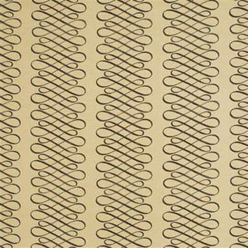 Mulberry Fabric FD251.A117 Swash Stripe Charcoal/Natural