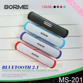 MS-201 Mega Bass Slender Bluetooth Speaker with Hands- free Call /TF Card