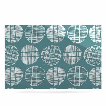 "Gill Eggleston ""Sketched Pods Teal"" Teal White Abstract Modern Vector Digital Luxe Rectangle Panel"