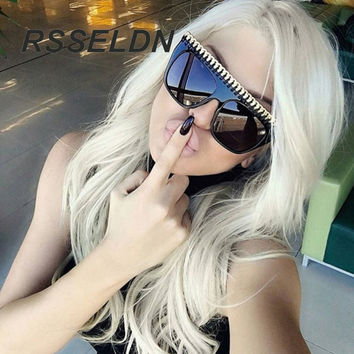 RSSELDN New Woman Sunglasses Women Brand Shades Men Retro Flat Top The frame Glasses Design Vintage Sunglass Female  97226