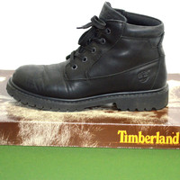Timberland Boots Black Leather Womens Sz 7
