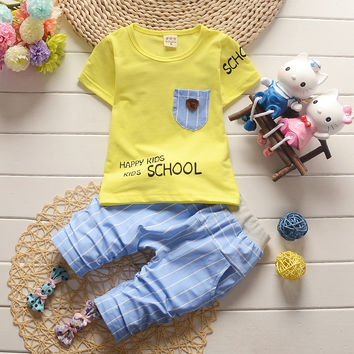 2017 new baptism children's clothing baby boys and girls baby children's clothes short-sleeved children's suits 1-2-3-4 years ol