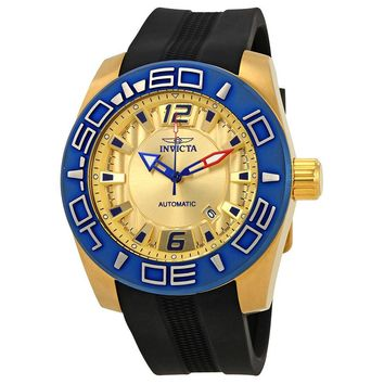 Invicta Aviator Automatic Gold Dial Mens Watch 23532