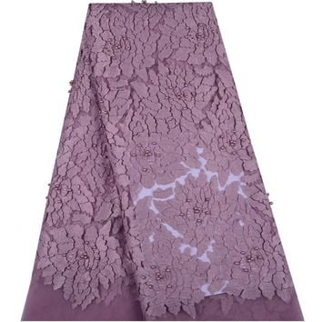 Onion Nigerian French Lace Fabrics 2018 African Tulle Lace Fabric With Beaded High Quality African Lace Wedding Fabric For Dress