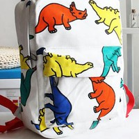 Lovely Leisure Cartoon Dinosaur Print Backpack