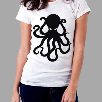 Spinal Tap Octopus T-Shirt, Green Blue, Organic Cotton - Graphic Tees for Men, Women & Children