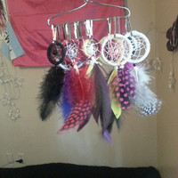 Large Blue and White Dreamcatcher Keychain