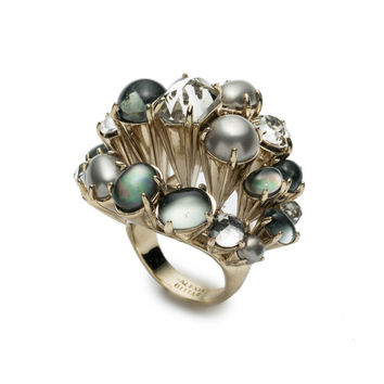 Arrayed Stone Cocktail Ring | Alexis Bittar