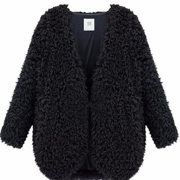 Ronnie Shaggy Faux Fur Coat