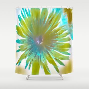 wild flower Shower Curtain by violajohnsonriley