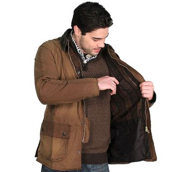 Ashby Washed Jacket in Bark Brown by Barbour - FINAL SALE