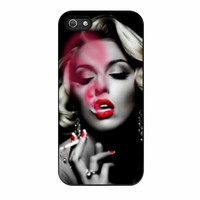 Marilyn Monroe Smoking Red Lips iPhone 5s Case