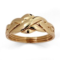 10k Yellow Gold Puzzle Ring