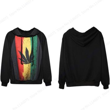 South Africa Skateboarding Hoodies Red Green Yellow Stripes Maple Leaf Hooded Sweatshirts Women Tracksuits Moletom Feminino