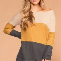 Pumpkin Cider Grey Thermal Sweater Top