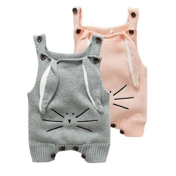 autumn baby romper rabbit newborn infant baby crochet knitted romper jumpsuit cotton woolen baby overalls baby boys girl clothes