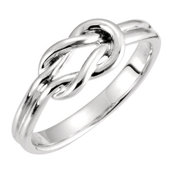 Sterling Silver Knot Design Ring (engravable)