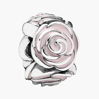 Women's PANDORA 'Rose Garden' Spacer Charm - Sterling Silver/ Pink