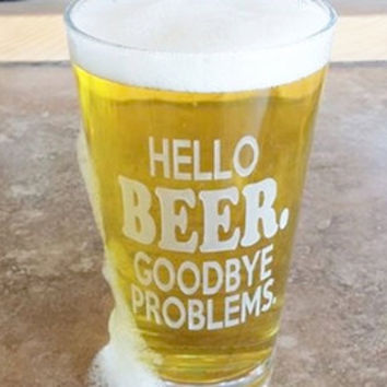 I Hate Shitty Beer Funny Beer Glass, Craft Beer Gift, Deep Etched Pint Glass, Guy Gift, Christmas Gift, Gift for Him, Beer Snob