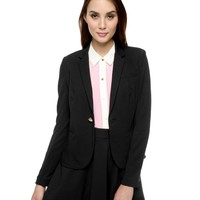 Solid 1 Button Ponte Blazer by Juicy Couture