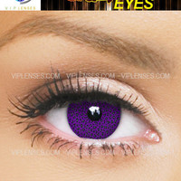 Crazy Purple Leopard Contact Lenses | VIP Lenses