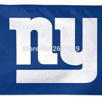 New York Giants NY  Flag 3x5FT NFL banner150X90CM 100D  Polyester brass grommets custom flag, Free Shipping