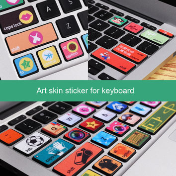 Removable Vinyl Decal Art Sticker Keyboard Skin Sticker for Macbook Air 11'' 13''  Macbook 12'' Personality Lovely Sticker