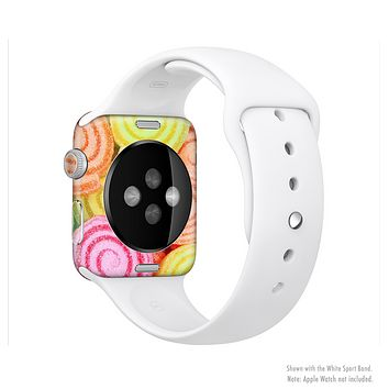 The Colorful Candy Swirls Full-Body Skin Kit for the Apple Watch