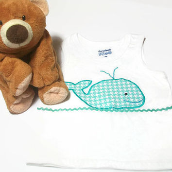 Baby Boy Shirt - Whale Baby Shirt - Baby Boy Clothing - Nautical Baby - Whale Baby Boy Clothing - Boys Tank Top - Peapodlilfrogs
