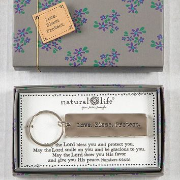 Love Bless Protect Boxed Keychain