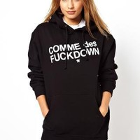 Comme Des F Down Hoodie
