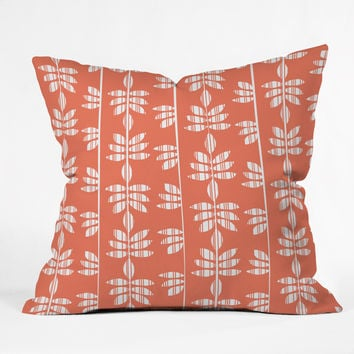 Heather Dutton Abadi Coral Outdoor Throw Pillow