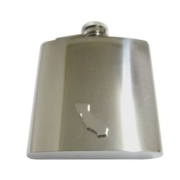 California State Map Shape 6 Oz. Stainless Steel Flask