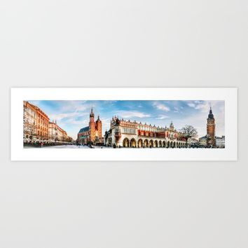 Cracow Main Square Art Print by jbjart