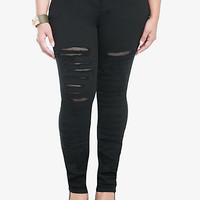 Torrid Skinny Jeans - Black Destructed | Torrid