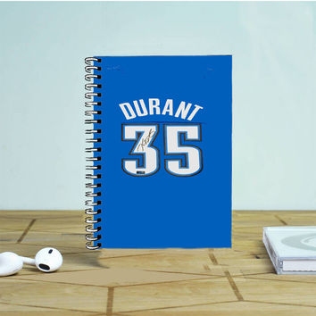 Kevin Durant Jersey Photo Notebook Auroid