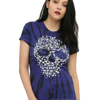 Butterfly Skull Purple Tie Dye Girls T-Shirt