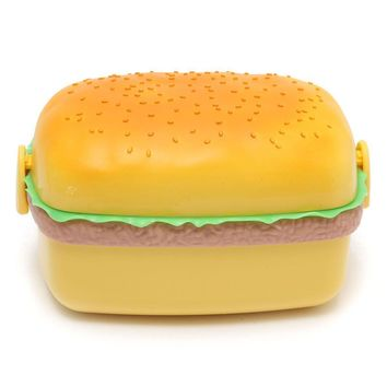 Lunch Box Hamburger Shaped Outdoor Picnic Container Storage